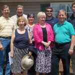 Habitat Board members and Geordan Communities dedicate home to family July 11, 2014 in Opelika